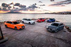 All generations of Audi RS2/RS4 B4/8C, B5, B6, B7,B8 and B9