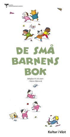 Folder om gåvoboken De små barnens bok. Grafisk form: Kerstin Strömberg