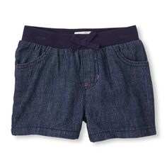 denim knit-waist shorts | US Store