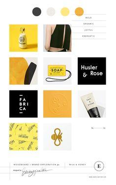 Milk & Honey Branding + Packaging Design // Mood board design by Emmygination