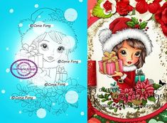 Digital Stamp Digi Digistamp Noelles Gift By Conie Fong Christmas More Information