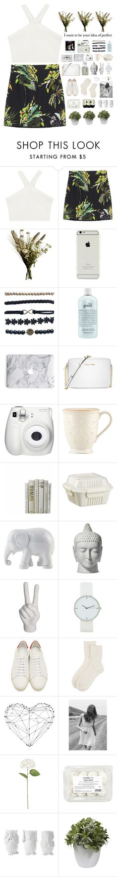 """""""im so into you i could barely breath"""" by robertcodyxx on Polyvore featuring BCBGMAXAZRIA, Proenza Schouler, Abigail Ahern, Wet Seal, philosophy, Michael Kors, Lenox, Crate and Barrel, The Elephant Family and Noir"""