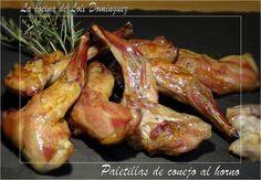 Unas paletillas de conejo asado, una carne rica en hierro muy baja en grasas y sana. Asada al horno con ajo y hierbas aromáticas se convierte en una delicia de bocado y lo mejor de todo se hace muy rápido,  da poquísimo trabajo y el resultado ¡¡Espectacular!! Receta en el Blog: http://lacocinadelolidominguez.blogspot.com.es/2016/03/paletillas-de-conejo-al-horno.html   Videoreceta: https://www.youtube.com/watch?v=bk5cK2hKie8