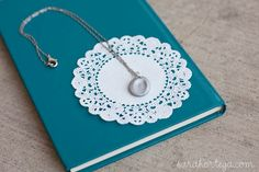 Sarah Ortega: diy {fingerprint jewelry} Totally doing this but with both girls prints and maybe adding a pearl or gem.
