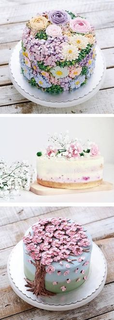 Say hello to spring with these inspiring buttercream flower cakes (and cupcakes!).