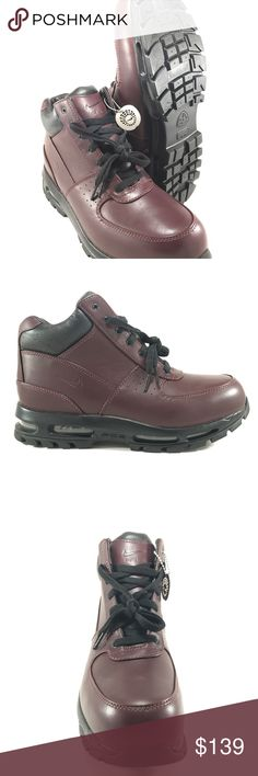 a089415e74c8 Nike Air Max Goadome ACG Dee Burgundy Men s Boots 865031-601 Burgundy Black  boots Men s