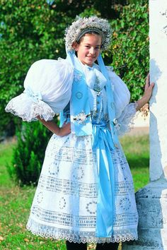 Traditional dress, western Slovakia Beautiful Costumes, Western Dresses, Folk Costume, Fashion Today, Beautiful Patterns, Traditional Dresses, Culture, Pictures, Clothes