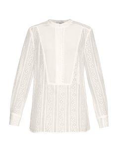 Erdem Tabitha floral-lace blouse