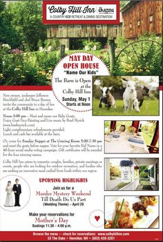 Colby Hill Inn, Henniker NH. New owners have created this great opening event.