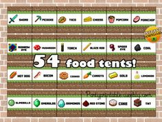 MINECRAFT FOOD TENT CARDS INSTANT DOWNLOAD! http://partyprintable.weebly.com/   Minecraft printable decoration, Minecraft birthday party decoration, Minecraft gifts, Minecraft invitation, Minecraft, Minecraft creeper, Creeper decoration, Minecraft digital file, Minecraft free decoration
