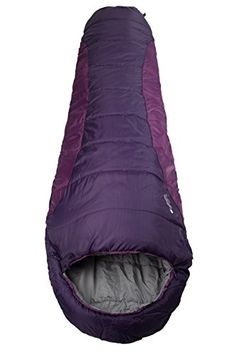 Mountain Warehouse Summit 250 Mummy Sleeping Bag 34 Season Berry Right Handed Zip *** Want to know more, click on the image. #SleepingBagsandCampBedding