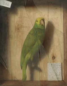 De Scott Evans (1847-1898) -Homage to a Parrot, ca 1890  Oil on canvas (50.8 x 40.6cm)