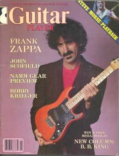 """guitar player   (1983/02, magazine, usa)  The February 1983 edition of Guitar Player magazine had a Frank Zappa & a Steve Vai special.  """"Frank Zappa - I'm Different"""" by Tom Mulhern, a 16-page interview  """"Steve Vai - Zappa's Little Italian Virtuoso"""" by Tom Mulhern, a 14-page interview"""