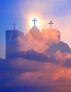 Catholic church with clouds, New Mexico © Jim Zuckerman