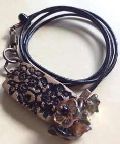 Leather and Lace Wrap Bracelet by FloatingVintage on Etsy, £18.00