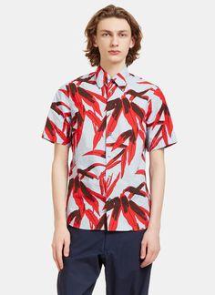 Men's Shirts - Clothing | Discover Now LN-CC - Whisper Botanic Print Crumpled Shirt