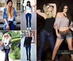 Somos apaixonados por jeans com tonalidade forte, e vocês? ♥