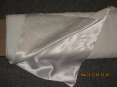 Wedding/Special Occasion - White Crepe-Backed Satin, NEW, 13.5 yard for $81.00!  (33% off regular price at Joann Fabrics)