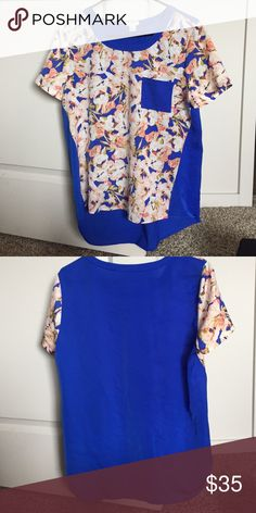 Price drop Floral top Beautiful floral top from jcrew, the material is polyester. J. Crew Tops