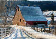 old ranch bldgs. in the snow | Recent Photos The Commons Getty Collection Galleries World Map App ...