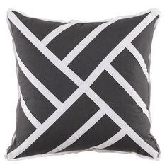 Chippendale Grey and White pillow – Greige Design