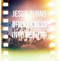 spiritualinspiration:  The word brokenness may strike fear in some people, but it's really not a bad word. God doesn't desire to break our spirits, but He wants to break that outer shell, the flesh that prevents Him from being all He wants to be in and through us. He wants to break off things like pride, rebellion, selfishness and independence. God wants us to be totally dependent on Him, and suffering seems to bring us to that point.