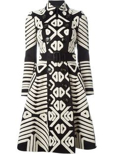 Shop Burberry Prorsum tribal appliqué trench coat in Spinnaker 141 from the world's best independent boutiques at farfetch.com. Shop 300 boutiques at one address.