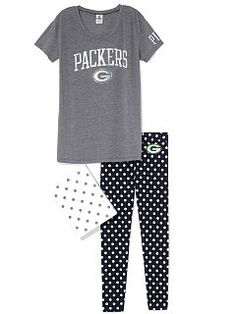 Green Bay Packers Boyfriend Tee & Legging Gift Set
