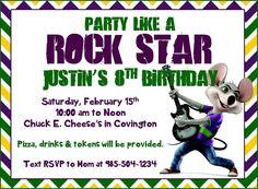 Chuck e cheese birthday party invitation diy printable party printable chuck e cheese party invitation by twentytoesdesigns 800 filmwisefo