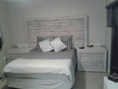 Pallet Headboard & Side Tables