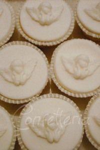 cupcakes para batizado. #batizado #festa #cupcake #anjo #religiao