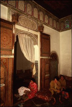 Morocco Fez.Interior of a traditional home 1994