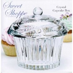 Godinger Sweet Shoppe Crystal Cupcake Box