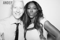 """Kenya Moore stopped by """"Anderson Live"""" and talked about her failed relationship with ex-boyfriend Walter…and if it was a hoax set up for the cameras. Of course you know Kenya had to twirled and she showed Anderson how to do the signature twirl.  The show airs Wednesday, January 16."""