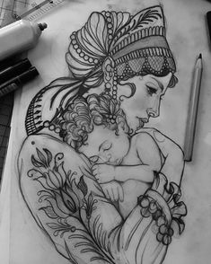 No automatic alt text available. Mama Tattoos, Life Tattoos, Body Art Tattoos, Tatoos, Mother And Baby Tattoo, Mother Tattoos, Tattoo Sketches, Tattoo Drawings, Tattoo Soeur