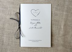 Simple Rustic Wedding Programs with Ribbon by DawnCorrespondence, $100.00