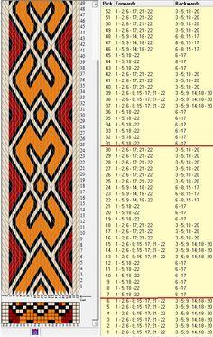 22 tarjetas, 3 colores, repite cada 24 movimientos // sed_525_c6 diseñado en GTT༺❁