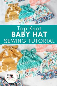 Learn how to sew an adorable baby top knot hat the EASY way with this sewing tutorial featuring with a free sewing pattern, step-by-step photos, and a video! hat for beginners kids Double Top Knot Baby Hat Free Sewing Pattern Sewing For Beginners Clothes, Sewing Projects For Beginners, Knitting For Beginners, Easy Knitting, Knitting Stitches, Beginer Sewing Projects, Baby Sewing Projects, Knitting Ideas, Easy Projects