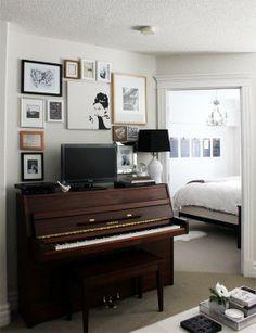 dark brown piano