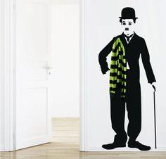CHAPLIN HANGER Wall Sticker, Wall Decals, Extra Rooms, Hanger, Inspiration, Design, Home Decor, Graphics, 3d