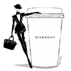 """It's MONDAY!!! Yaaaaaaayyyyyyyy!..... Not convinced? All you need is a REALLY STRONG cup of GIVENCHY coffee and you'll be fine. @givenchyofficial"""