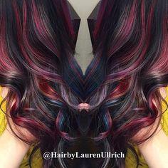 Galaxy hair. Oil slick hair. Peacock hair. Rainbow hair.