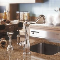 Perrin And Rowe 4746 Aquitaine Kitchen Tap With Rinse