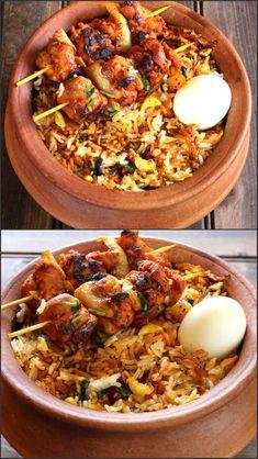 Good idea for presenting chicken tikka biryani