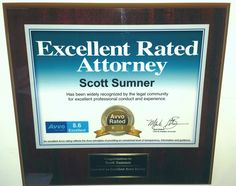 Scott Sumner, awarded the AVVO 2014 Excellent Rated Attorney Honor. This award reflects guidance, transparency and information. #Michigan #Attorney #Lawyer