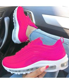 newest eccf3 7247c Tendance Sneakers 2018   Femme Air Max 97 Hyper Tout Rose Rose Blanche -  Shoes For Woman