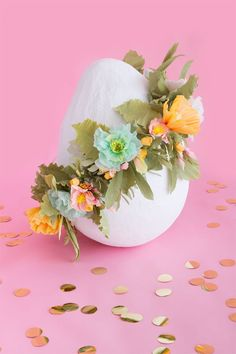 Giant Floral Easter Egg   Oh Happy Day!   Bloglovin'