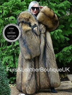 Coyote Fur Coat, Fox Fur, Hooded Winter Coat, Mens Winter Coat, Long Fur Coat, Fur Coats, Mens Fur, Swing Coats, Saga