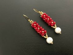 How to make beaded earrings.DIY beaded earrings - new season bijouterie Beaded Earrings Patterns, Seed Bead Earrings, Diy Earrings, Beaded Bracelets, Hoop Earrings, Pearl Earrings, Seed Beads, Bead Patterns, Diy Jewelry