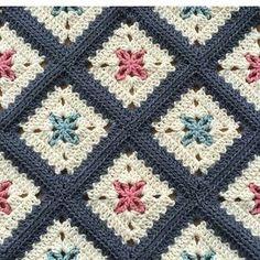 Photo Only. INSTAGRAM. I cannot reach this pattern (sunum sahib) by@alegria73#crochetbabyblanket…I like the color scheme.